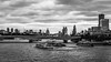 Southbank from the bridge (PhredKH) Tags: 2470mm blackwhite bridge canonphotography cloudy ef2470mmf4lisusm fredkh iconicbuildings monochrome photosbyphredkh phredkh riverthames skyline splendid thamesriver boats cityoflondon outdoorphotography water city sky boat river sea building canoneos5dmkiii