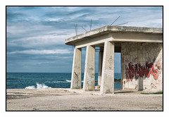 NO LIMITS (Cristiano Delise) Tags: urban urbex abandoned decay no limits nolimits blue red temple classic wave canon 800d 50mm f18 cristianodelise colour old concrete unfinished cityscape seascape a man altered new topographics inspiration travel beauty composition perspective minimal