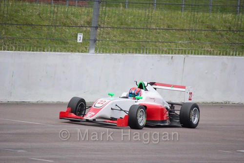 Tom Gamble in British F3 pre-season testing 2018