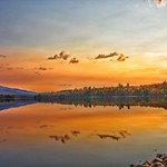 Lake Placid New York ~ Evening Sunset ~ Golden Reflection - Adirondack Mountains thumbnail