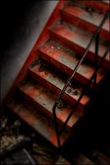 Stairway To Hell (Armin Fuchs) Tags: arminfuchs abandoned stairway staircase hell red down würzburg niftyfifty