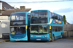Arriva Southern 6483 SN15LNP & 6401 GN04UDM (Will Swain) Tags: arriva gillingham depot 30th december 2017 bus buses transport travel uk britain vehicle vehicles county country england english south east medway garage yard southern 6483 sn15lnp 6401 gn04udm