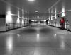 Malaga Airport AGP (mark hewins) Tags: airport architecture interior hall walk customs malaga rectilinear selectivecolour selectivecolor red parallax