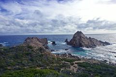 Sugarloaf Rock (NatalieTracy) Tags: margaretriverregion capenaturaliste westernaustralia australia sugarloafrock rock nature sky clouds ocean water sea coast coastallandform nationalpark indianocean