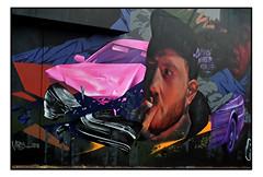 STREET ART by VIBES & NAH MATE (StockCarPete) Tags: streetart londonstreetart urbanart graffiti vibes vibesldn nahmate shoreditchart london uk smoking car
