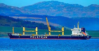 Scotland Greenock bulk carrier Pomorze 20 March 2018 by Anne MacKay