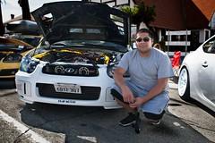 Fear No EVO (Mr Buhr) Tags: boxer proud riverside downtown show white cars car import evo wrx subi subaru