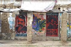 Revolutionary Doors Oaxaca Mexico Zautla (Ilhuicamina) Tags: doors puertas zautla oaxaca mexico art paintings walls
