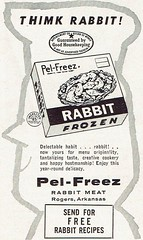1961 Pel-Freez Rabbit Meat Ad with Glaring Typo (Guy Clinch) Tags: rabbit bunny advertisement chef
