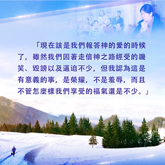 生命格言-报答神的爱 (追逐晨星) Tags: 讥笑 毁谤 逼迫 荣耀 羞辱 福气