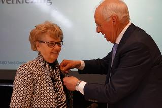 KBO Brabant erepenningen voor Marianne van der Wijst en Jo Oerlemand lid van de KBO Sint-Oedenrode centrumDeze erepenningen werden uitgereikt op de Algemene Jaarvergadering in Odendael