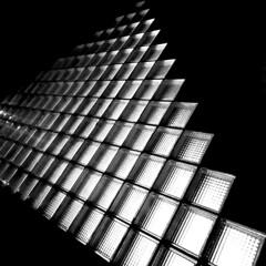 Pyramide (Rosmarie Voegtli) Tags: pyramide theater basel light licht night abstract blackandwhite blackwhite diagonal iphone square dreieck again againandagainandagain