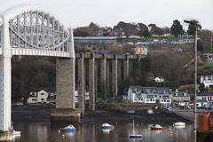 150130 Saltash, Cornwall (Paul Emma) Tags: uk england cornwall saltash railway railroad dieseltrain train rivertamar bridge river 150130