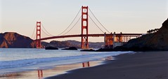 The Golden Gate Sunrise (kevinfoxphotography53) Tags: san francisco golden gate bridge kevinfoxphotography bakers beach pacific ocean bay marin county
