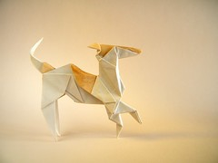 Whippet - Román Díaz (Rui.Roda) Tags: origami papiroflexia papierfalten dog chien perro cão cachorro whippet román díaz