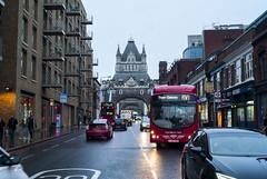 TowerGateway (luiebalazs) Tags: streetphotography street public transportation urban city winter leicam8 m8 voigtlander nokton 35mm london uk england tower londontower bus car cars traffic road