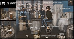 [mAr] The Brewery - Man Cave Event (andraus thor) Tags: mar want sl secondlife metaverse decor furniture 3d mesh brewery beer barrel woodbox poses animations props set mancave event steampunk giver fresh hot new