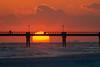 Okaloosa Island Pier Sunset (ChristineDarnell) Tags: sunset floridasunset floridapanhandle florida sun water pier clouds beach sand