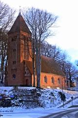 Evangelische Kirche Binz (lt_paris) Tags: urlaubinbinz2018 binz rügen kirche sonnenuntergang