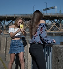 Phone Photographer (Scott 97006) Tags: girls ladies females woman posing picture skirt cute