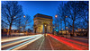 Arc de Triomphe [Explored 13-03-2018] (Tony Lu) Tags: arcdetriomphe paris arch history architecture bluehour sonya7rm2 canon1740f4lusm lighttrials blue red white longexposure leefilter