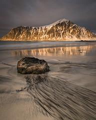 Skagsanden (Greg Whitton Photography) Tags: arctic frozen ice landscape lofoten norway seascape snow sony winter a7rii skagsanden flakstad rock epic sunset