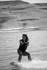 Commanding the flow (RoManLeNs) Tags: ut utah adventures wakeboarding lakes actionshots action water sunny vacation travel traveling fit fitwoman prettywoman woman actionwoman redrock candid notposed fitness romrom rom romanlens