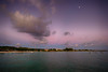 Evening in Barbados (` Toshio ') Tags: toshio barbados caribbean sunset clouds bay water island moon beach shoreline ocean sea fujixt2 xt2 boats