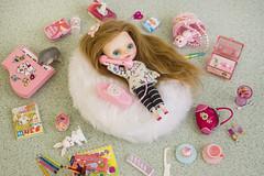 'uh huh, uh huh...' (JennWrenn) Tags: petite blythe custom miracleshoppe rement miniatures girlstuff girltalk florence
