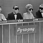 Masked Celebrity Panelists, Dorothy Kilgallen, Merv Griffin, Arlene Francis, & Bennett Cerf,