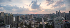 Chongqing sunset panorama (christophschubert) Tags: asia china chongqing architecture buildings city cityscape clouds colorful dramatic panorama raysoflight river sunset 中国 重庆 skyline