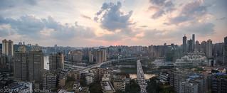 Chongqing sunset panorama