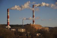 smoke (daimak) Tags: vilnius smoke industrial sky powerplant lithuania sonyilce7