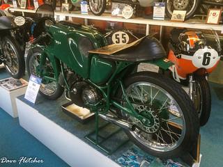 A BSA racing Motorcycle Sammy Miller Museum