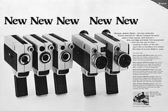 "Kodak Instamatic Movie Cameras advertisement. (Jerry Vacl) Tags: advertisement bw cameras moviecameras photomagazine 1969september""popularphotography""magazine kodak kodakinstamaticmoviecameras nikond7200 micronikkor40mmf28gdx"