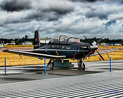 HDR of Harvard II Under the Abbotsford Airshow Overcast (AvgeekJoe) Tags: takemetoabby 2cffts 2canadianforcesflyingtrainingsquadron 2017abbotsfordinternationalairshow abbotsford abbotsfordinternationalairport abbotsfordinternationalairshow abby ct156 ct156harvardii cyxx d5300 dslr hdr harvardii nikon nikond5300 raytheonct156 raytheonct156harvardii raytheonharvardii trainer yxx aircraft airplane airport airshow aviation plane turboprop