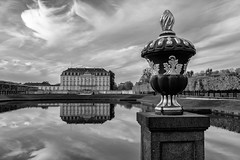 One day you will be gone (gambajo) Tags: 1year1town1lens brühl blackandwhite blackwhite black white bw outdoors public castle augustusburg building water old sky skyporn clouds reflection x100s fujix100s fujifilmx100s project pond schlosspark schloss schlos