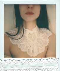 Second Skin (marion (milky soldier)) Tags: lace dentelles polaroid sx70