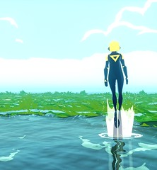 """""""Breath of air"""" (L1netty) Tags: abzu 505games giantsquid pc games gaming reshade screenshot 4k videogame color blue green character clouds"""