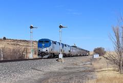 Amtrak 3, Wagon Mound, New Mexico (chief_huddleston) Tags: southwestchief amtrak 3 82 85 wagonmound newmexico nm bnsf ratonsub passenger train railroad