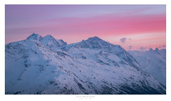 In the Land of Giants (Nils Leonhardt) Tags: berg mountain schnee snow himmel sky landschaft landscape sonnenuntergang sunset sun dawn nikon nikond810 sigma lens sigmaart sigma24105mm switzerland schweiz engadin graubünden mountainscape pinksky
