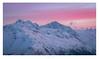 In the Land of Giants (Nils Leonhardt) Tags: berg mountain schnee snow himmel sky landschaft landscape sonnenuntergang sunset sun dawn nikon nikond810 sigma lens sigmaart sigma24105mm switzerland schweiz engadin graubünden mountainscape pinksky