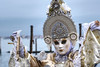 Cérémonieuse (puig patrice) Tags: carnaval venise fuji portrait canal attitude water mask déguisement soie pink purple xf90mm