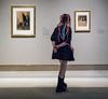 Leonardo to Matisse (John St John Photography) Tags: metropolitanmuseumofart streetphotography candidphotography exhibition drawings youngwoman braids multicolored enjoyment 82ndst newyorkcity newyork color johnstjohn robertlehmancollection
