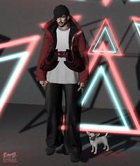 . EohB . #BURLEY #Catwa #Straydog #Semller #FAKEICON #ValeKoer #Volkstone #L'etre (Crayolas Clothes) Tags: burley catwa straydog semller fakeicon valekoer volkstone letre uber tmd men man male dude buddy gay guy neonlights neon red black bigpants jacket pewpew sl slfashion fashionmen fashionmale avatar belleza gg