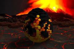 Phoenix Egg (Bright Bricks) Tags: lego mythical beasts mythology creatures monsters greek ancient greece rome roman trident poseidon zeus hestia hera olympus hades jason argonauts clash titans perseus pan pipes panpipes apollo demeter phoenix egg eggs neptune diana