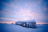 Arctic cabin @ sunset (Kristaaaaa) Tags: cans2s island abandoned arctic building cabin canada cold fujixt2 fujifilm house north northern nothwestterritories sky snow sunset traditional tuktoyaktuk winter velviavivid colour dusk