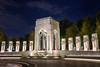 Night Glow, WWII Memorial in Washington, DC (SunnyDazzled) Tags: wwii memorial washington dc uscapitol night nightphotograph lights fountain granite wreaths bronze eagle pacific arch mall nationalmall history