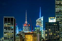 New York Midtown by night 2.0 (christopherbischof) Tags: newyork manhattan midtown usa america amerika skyline skyscraper newyorkskyline hochhäuser wolkenkratzer nacht night metropole fujifilm fujifilmxe1 christopherbischof