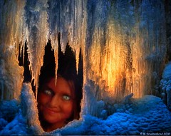 A Child of the Ice (PhotosToArtByMike) Tags: childoftheice mysterious child children cateyes nonhuman iceage icycicle